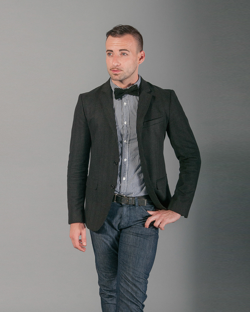 The Plain Black Two-Button Suit